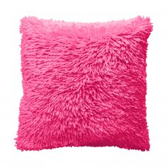 Shaggy Chenille Cushion Cover - Fuchsia Pink