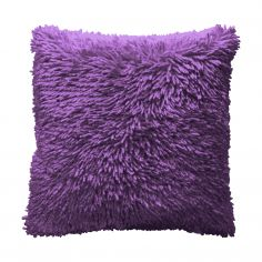 Shaggy Chenille Cushion Cover - Purple Plum