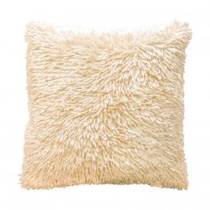 Shaggy Chenille Cushion Cover - Cream