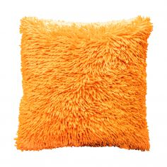 Shaggy Chenille Cushion Cover - Orange