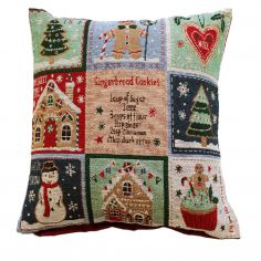 Jolly Gingerbread Christmas Cushion Cover