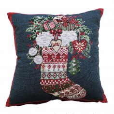 Winter Stocking Christmas Cushion Cover