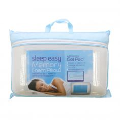 Sleep Easy Memory Foam Pillow with Cooling Gel Pad