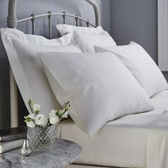 500 Thread Count Cotton Rich Pair of Housewife Pillowcases Cream