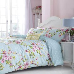 Canterbury Floral Reversible Duvet Cover Set - Blue/Multi