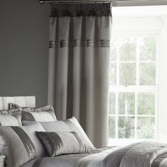 Gatsby Luxury Silver Tape Top Curtains