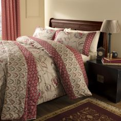 Kashmir Red & Natural Duvet Cover Set