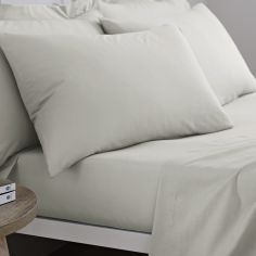 Pair of 100% Cotton Housewife Pillowcases - Natural