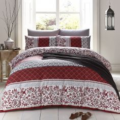 Oriental Birds Duvet Cover Set - Spice