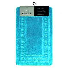 Armoni 2 piece Bath Mat Set - Aqua