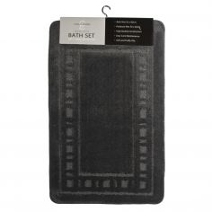 Armoni 2 piece Bath Mat Set - Black