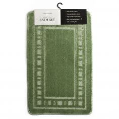 Armoni 2 piece Bath Mat Set - Sage Green