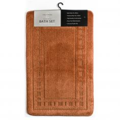 Armoni 2 piece Bath Mat Set - Terracotta