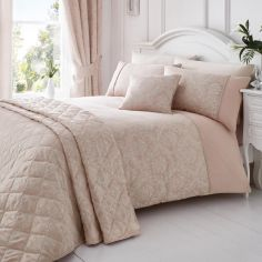 Laurent Jacquard Cotton Rich Duvet Cover Set - Rose Pink