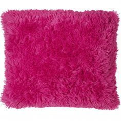 Cuddly Fluffy Cushion Cover - Hot Pink
