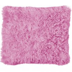 Cuddly Fluffy Cushion Cover - Candy Pink