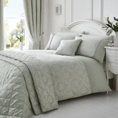 Laurent Jacquard Quilted Bedspread - Silver