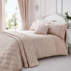 Laurent Jacquard Quilted Bedspread - Rose Pink