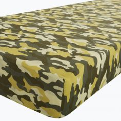 Camouflage Green Percale Fitted Sheet