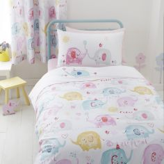 Elephants on Parade Duvet Cover Set