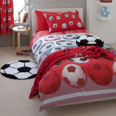 Football Kids Duvet Cover Set - Red