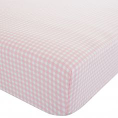 Gingham Pink Fitted Sheet