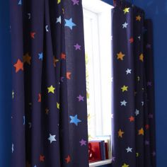 Outer Space Tape Top Curtains