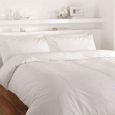 Minimalist Plain White Duvet Cover Set
