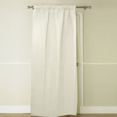 Embossed Thermal Door Curtain - Marshmallow / Cream