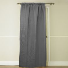 Embossed Thermal Door Curtain - Grey