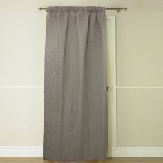 Embossed Thermal Door Curtain - Latte