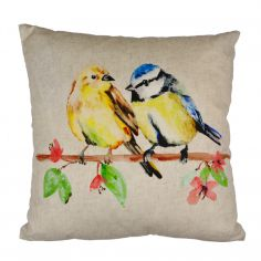 Two Little Birds Cotton Cushion Cover