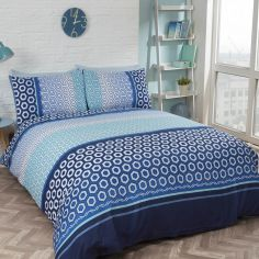 Barbican Duvet Cover Set - Blue & Navy