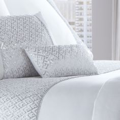 Shimmer Sequin Filled Petite Cushion - White