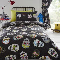 Reversible Sugar Skulls Duvet Cover Set