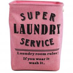 Super Service Foldable Laundry Bag - Pink