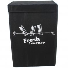 Fresh Foldable Laundry Basket Box - Black