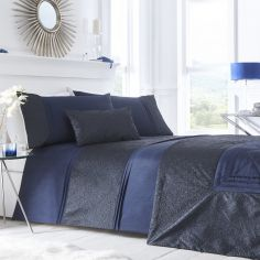 Lavelle Quilted Bedspread - Indigo Blue