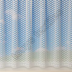 Circle Design White Net Curtain