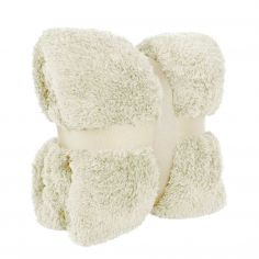 Supersoft & Warm Teddy Blanket Throw - Cream