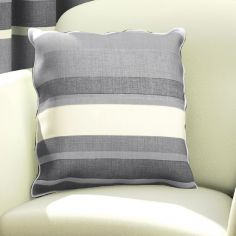 Charcoal Grey Striped Cushion Cover
