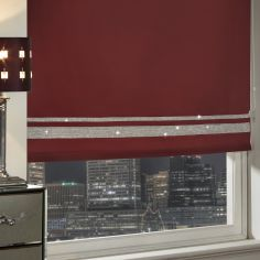 Diamante Sparkle Roller Blind - Red