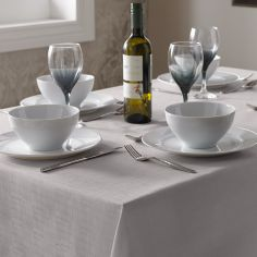 Linen Look Tablecloth - Silver Grey