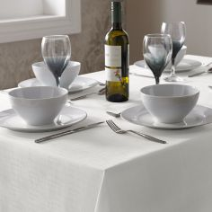 Linen Look Tablecloth - White