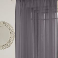 Lucy Eyelet Ring Top Voile Curtain Panel - Silver Grey
