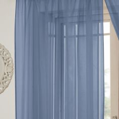 Lucy Eyelet Ring Top Voile Curtain Panel - Teal Blue