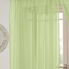 Lucy Eyelet Ring Top Voile Curtain Panel - Zest Green