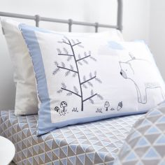 Kids Bianca 100% Cotton Soft Nordic Print Fitted Sheet - Blue