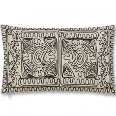 Bianca Cotton Soft Corded Embroidered Cushion - Multi