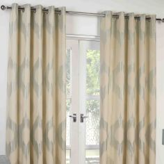 Delta Fully Lined Ring Top Curtains - Duck Egg Blue